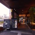 入口はこちら!心斎橋駅・難波駅から徒歩圏内です。