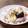 料理メニュー写真チョコレートブラウニー