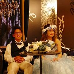 結婚式二次会時は、新郎新婦席をご用意できます!