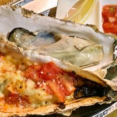 サルサとチーズの焼牡蠣