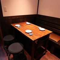 少人数から使いやすいテーブル席をご用意!