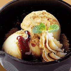 料理メニュー写真黒蜜ときなこのバニラアイス