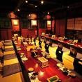 20名様~60名様までの個室もあり。当店のこだわり新潟・佐渡産の旬なお料理をお楽しみ頂く為に、落ち着きの完全個室をご用意しております。様々なシーン、人数に合わせてご利用頂けますので、お気軽にお問合せ下さいませ。ご宴会にも最適な個室は、広々とした空間で最大で60名様までご利用可能です。