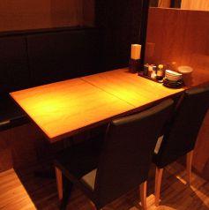 ゆったりテーブル席