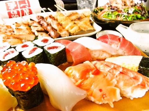 ◆鮮度バツグン!お寿司は単品でも注文できるよ!一貫100円~♪他料理もお酒も豊富☆