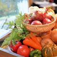 同じくカウンターには旬のお野菜が。