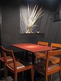 2~4名様用のテーブルのお席。