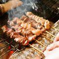 ■信州福味鶏を炭火で焼いてジューシー