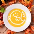 料理メニュー写真オバケかぼちゃのハロウィンスープ ~特製生クリーム使用~
