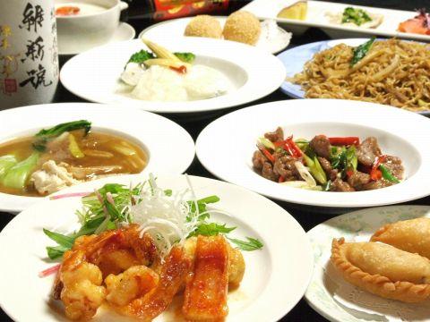 ズワイ蟹とエビの共演やその他贅沢食材をふんだんに使用したお料理が沢山。
