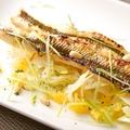 料理メニュー写真アナゴの白焼き~フィノッキオとオレンジのサラダ仕立て~