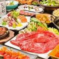 メインが選べる3時間の飲み放題付宴会コースは全10品3,500円~。【もつ鍋】または【テールスープしゃぶしゃぶ】のどちらかをお選びいただけます。メインにあわせた〆をそれぞれご用意。またデザートまでコース内容に含まれており、女子会におすすめ♪朝獲れ鮮魚の船盛りや季節の旬野菜を使ったお料理も◎