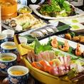 【ご宴会オススメポイント2】2時間飲み放題付き宴会コース3500円~!オススメは旬の魚を存分に堪能できる4000円コース!