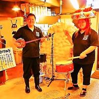沖縄民謡ライブも生演奏♪