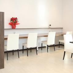 1名様でご利用いただけるカウンター席です。【Spazio di Lusso 洋麺亭】(スパジオディルッソ ようめんてい)
