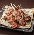 料理メニュー写真炙り白レバー串焼