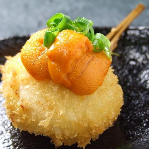 一串ごとにサプライズ☆室津の新鮮旬魚を使った創作串揚げのお店。ランチも好評♪