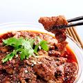 料理メニュー写真牛肉の薄切り山椒唐辛子煮/牛肉とピーマンの細切り炒め/牛肉の薄切りカキソース炒め