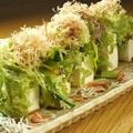 料理メニュー写真静岡県産大豆100%のお0豆腐と駿河湾の恵みサラダ わさびドレッシング