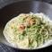 生ウニと青海苔のクリームソース