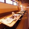 テーブル席も、団体様でのご利用も可能です。