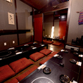 団体様に大歓迎の宴会用個室。