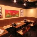 落ち着いた空間でお食事♪会社帰りなどにもリーズナブルに美味しくお楽しみ下さい。