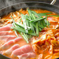 料理メニュー写真三元豚の純豆腐チゲ鍋~熟成こってり辛味噌スープ~