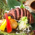 料理メニュー写真本日の黒毛和牛藁焼き