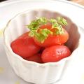 料理メニュー写真やみつきミニトマトのピクルス