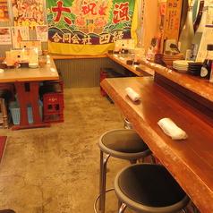 店内にはテーブル席他カウンターも有り!