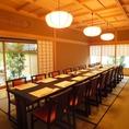 3F 城 20名様 庭園の見えるテーブル席 ※ご予約は個室のみお受けしております。個室のご指定もお受けしておりません。