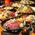 宴会コースでは自慢の鶏を駆使した創作料理のほか、新鮮野菜や旬の食材も愉しめる逸品が目白押し♪