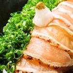 酒の肴は、ヘルシーな鶏料理☆清流鶏という地鶏を使った、鶏料理が自慢♪