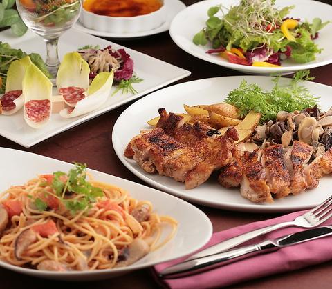 ◆おすすめパーティープラン 5000円◆ 【選べるメイン料理】【2h飲み放題付き】