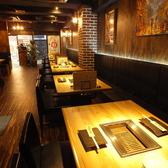 -焼肉 肉縁 新宿東口歌舞伎町店-新宿らしく洋モダンな店内は幅広い年代のお客様にご利用頂いております。さらには少人数様から団体様まで、全てのお客様に愛着を持って使用して頂けるような店内作りを心がけております。新宿にお越しの際には、ぜひご来店のほどお待ちしております。