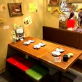 【8名様】まで着席可能な半個室。仲間内での宴会、ご家族でのお食事にもぴったり☆