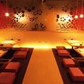 ◆~30名様向けのお席◆最大30名様までOKの宴会個室!各シーズンのご宴会にはこのお席をご利用ください。掘りごたつ付きで楽々、上司などの目上の方のお招きにも安心です。飲み放題付の各コースとあわせてのご予約でスムーズなご宴会が可能です。