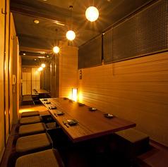 少人数からもご利用いただけます、人気の宴会メニューやこだわりの創作料理をご用意しております。おしゃれな雰囲気の個室で合コンや女子会をお楽しみ頂けます。プランやお席などお気軽にご相談ください。店内は和モダンでシックなくつろぎ空間。落ち着いた大人の雰囲気の個室で大切なひとときをゆっくりとお過ごし下さい。
