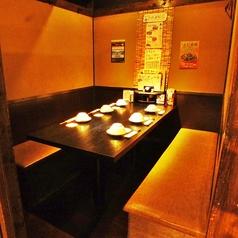 6名様個室。テーブル席なので、靴を脱がずに。
