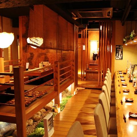 落ち着いた雰囲気の中でゆったりとお寛ぎ下さい。心温まる接客とお料理がお店の魅力☆