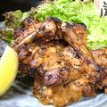 料理メニュー写真骨付き若鶏のゆず胡椒焼き