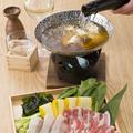 料理メニュー写真粋に食す・・・雪室熟成豚の酒しゃぶ(日本酒:日本刀)