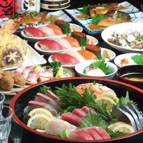 本格寿司をリーズナブルに楽しめる広々寿司居酒屋!最大40名様までの座敷席◎