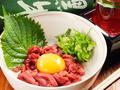 料理メニュー写真馬刺し 桜ユッケ