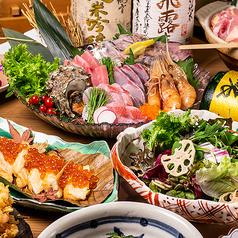 3時間飲み放題付き「若鶏と季節野菜の柚子塩鍋」「海老団子串のフライ」8品3499円