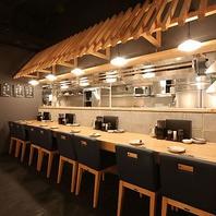 【一人でも大丈夫なカウンター席】広島市の綺麗な居酒屋