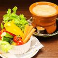 料理メニュー写真産地直送有機野菜使用「贅沢バーニャカウダ」