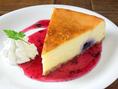 ★つなぐの手作りケーキ★ブルーベリーチーズケーキ…500円