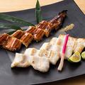 料理メニュー写真特大穴子炙り焼き (白焼きと蒲焼きの合盛り)